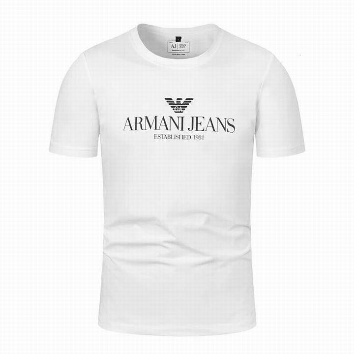 Wholesale Fashion Armani Men Short Sleeve T-shirts Sale-546