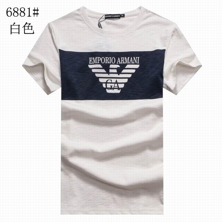 Wholesale Replica Armani Men Short Sleeve T-shirts for Cheap-528