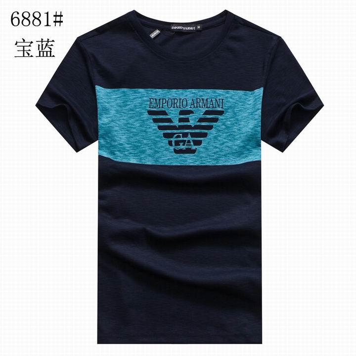 Wholesale Replica Armani Men Short Sleeve T-shirts for Cheap-529