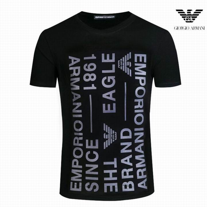 Wholesale Fashion Armani Men Short Sleeve T-shirts Sale-548