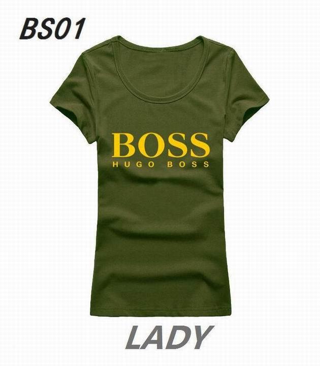 Wholesale Boss Womens Short Sleeve Round Collar T Shirt Sale-095