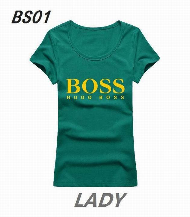 Wholesale Boss Womens Short Sleeve Round Collar T Shirt Sale-096