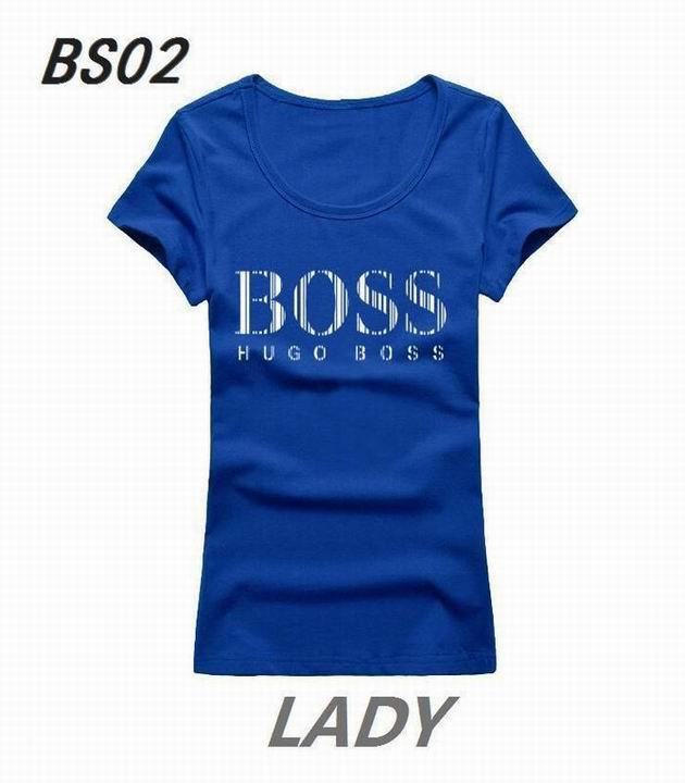 Wholesale Boss Womens Short Sleeve Round Collar T Shirt Sale-099