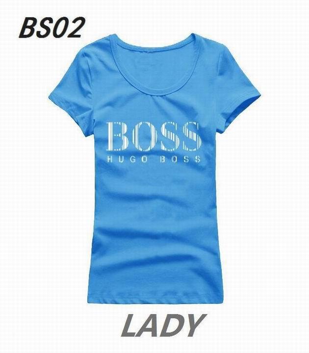 Wholesale Boss Womens Short Sleeve Round Collar T Shirt Sale-100