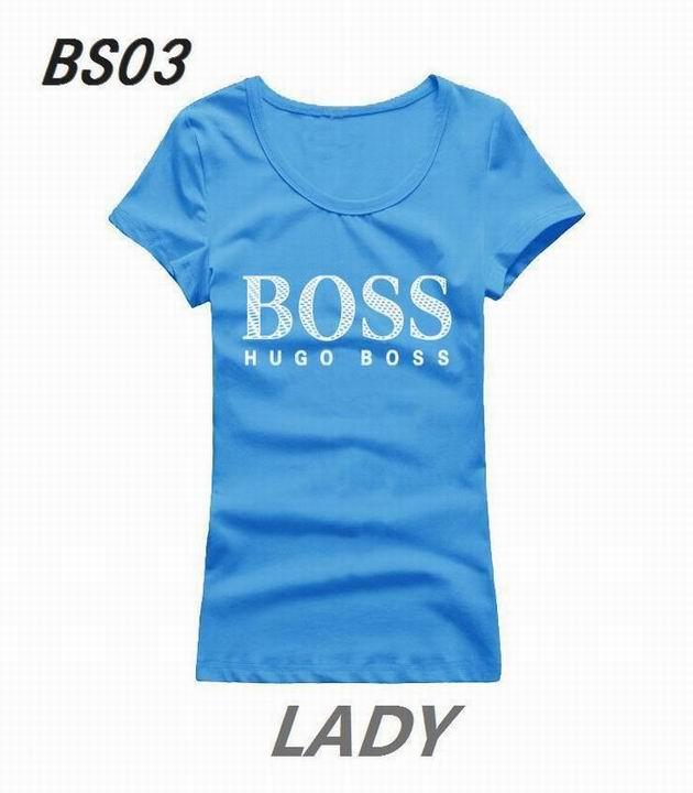 Wholesale Boss Womens Short Sleeve Round Collar T Shirt Sale-116