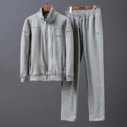 Wholesale High Quality HUGO BOSS Long Sleeve Tracksuits Sale-060