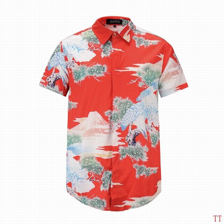 Wholesale Fashion Gucci Mens Short Sleeve Shirts-020