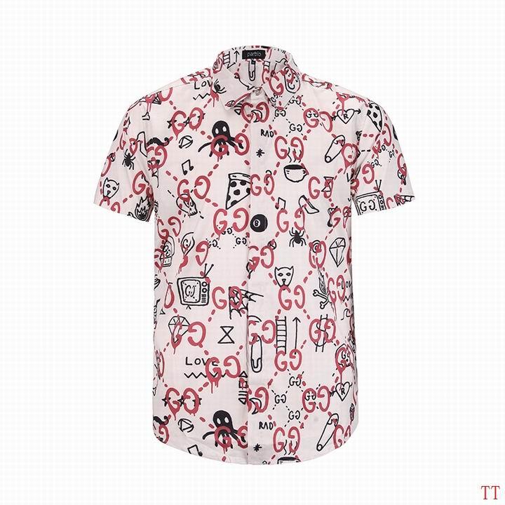 Wholesale Fashion Gucci Mens Short Sleeve Shirts-005