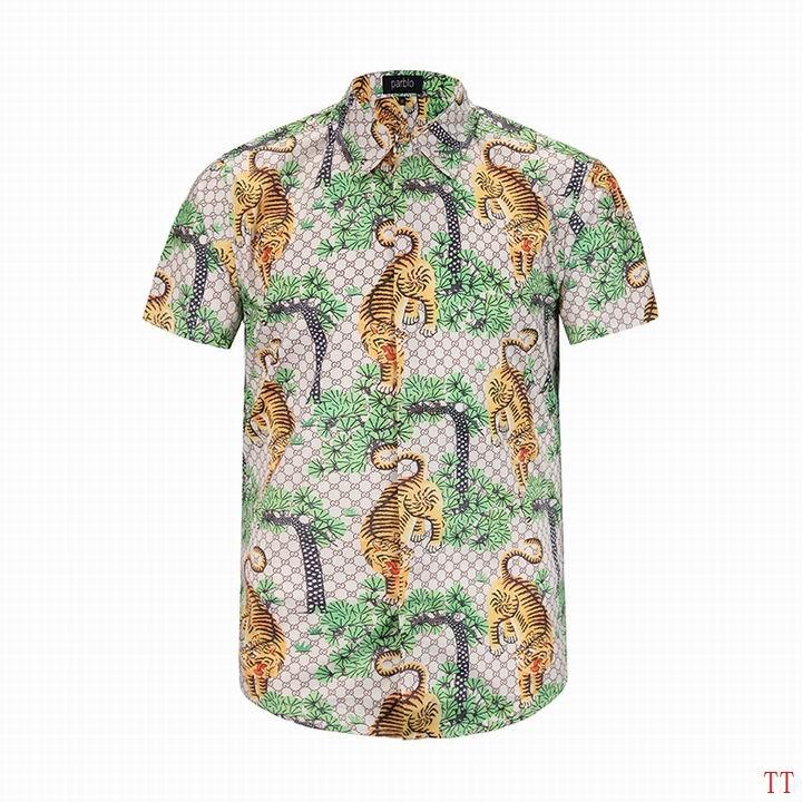 Wholesale Fashion Gucci Mens Short Sleeve Shirts-011