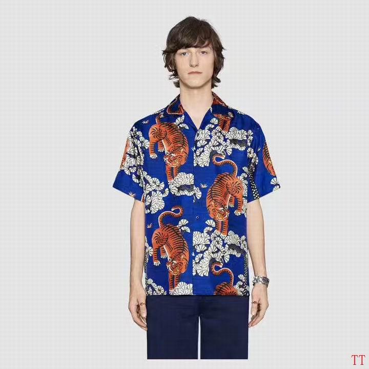 Wholesale Fashion Gucci Mens Short Sleeve Shirts-015