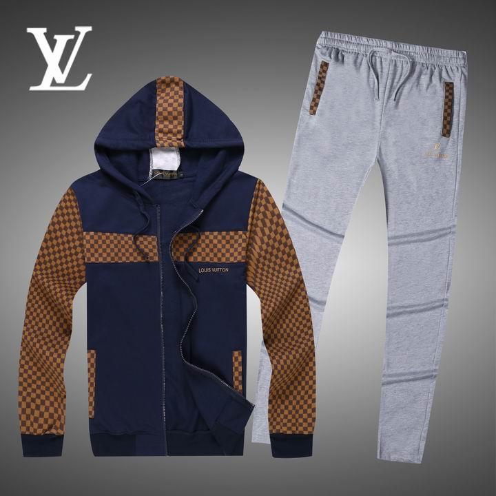 Wholesale Replica Louis Vuitton Long Sleeve Tracksuits for Men-004
