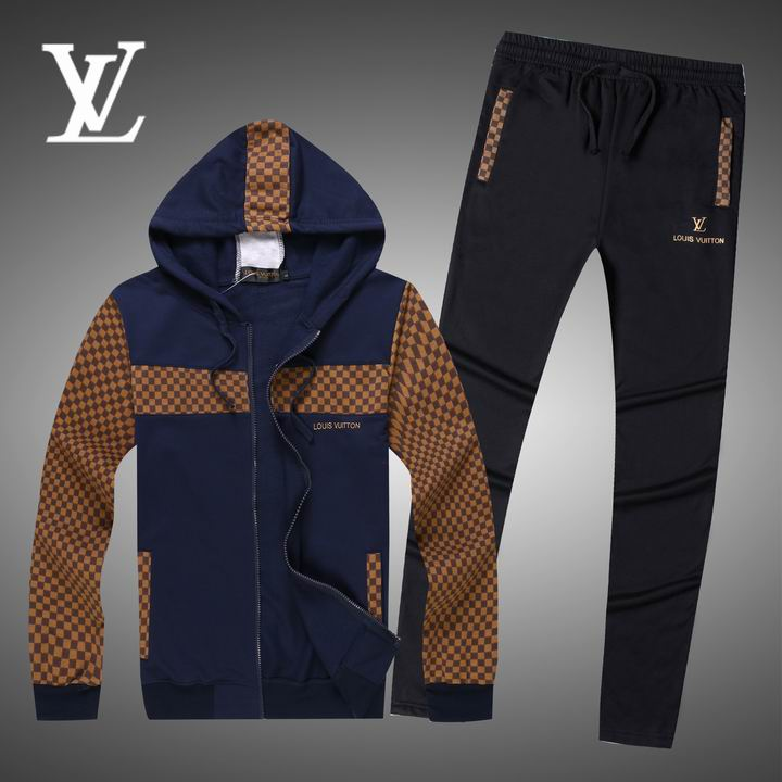 Wholesale Replica Louis Vuitton Long Sleeve Tracksuits for Men-005