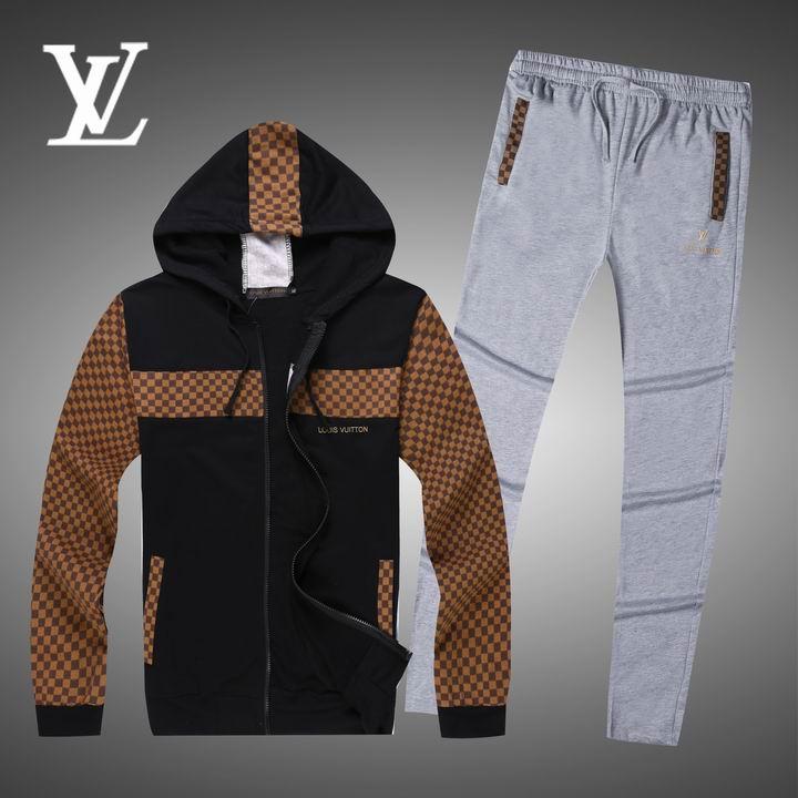 Wholesale Replica Louis Vuitton Long Sleeve Tracksuits for Men-007