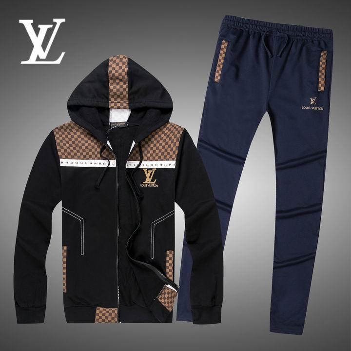 Wholesale Replica Louis Vuitton Long Sleeve Tracksuits for Men-010