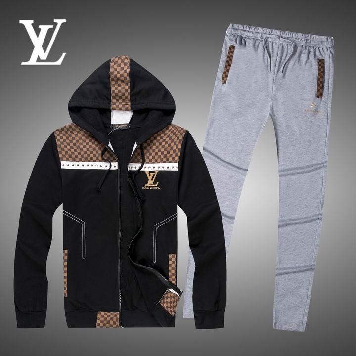 Wholesale Replica Louis Vuitton Long Sleeve Tracksuits for Men-011