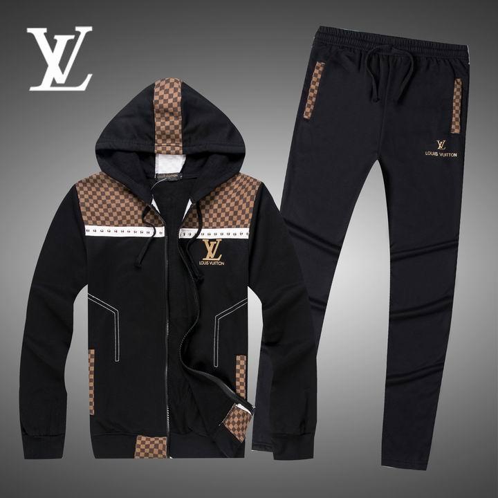 Wholesale Replica Louis Vuitton Long Sleeve Tracksuits for Men-012