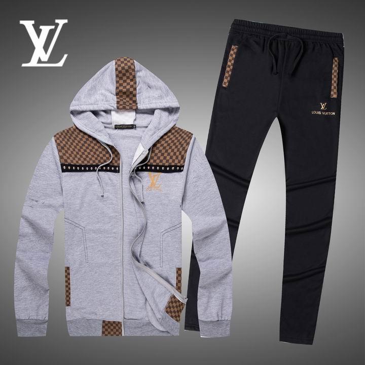 Wholesale Replica Louis Vuitton Long Sleeve Tracksuits for Men-013