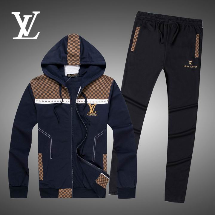 Wholesale Replica Louis Vuitton Long Sleeve Tracksuits for Men-016