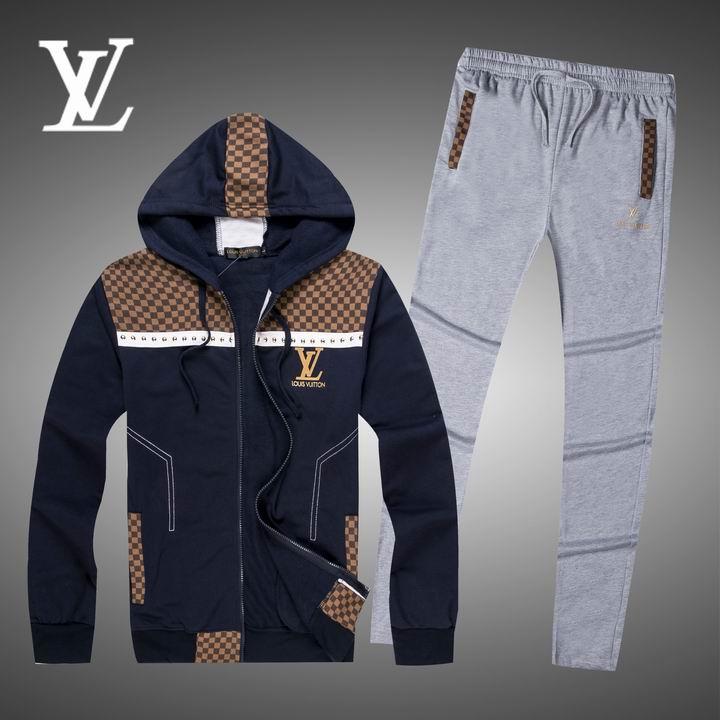 Wholesale Replica Louis Vuitton Long Sleeve Tracksuits for Men-017