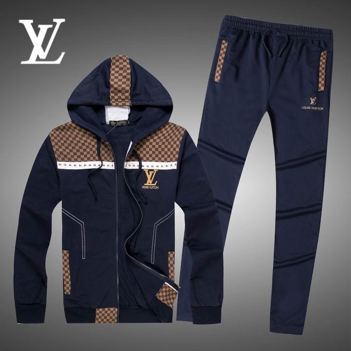 Wholesale Replica Louis Vuitton Long Sleeve Tracksuits for Men-018