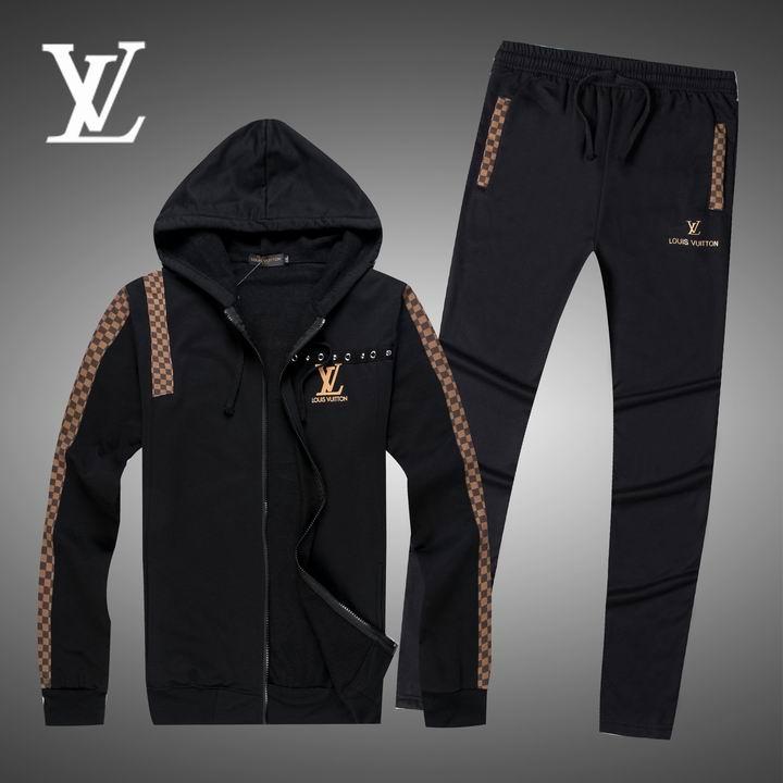 Wholesale Replica Louis Vuitton Long Sleeve Tracksuits for Men-021