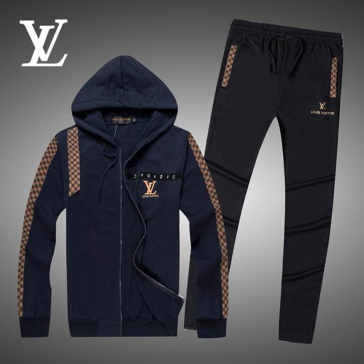 Wholesale Replica Louis Vuitton Long Sleeve Tracksuits for Men-022
