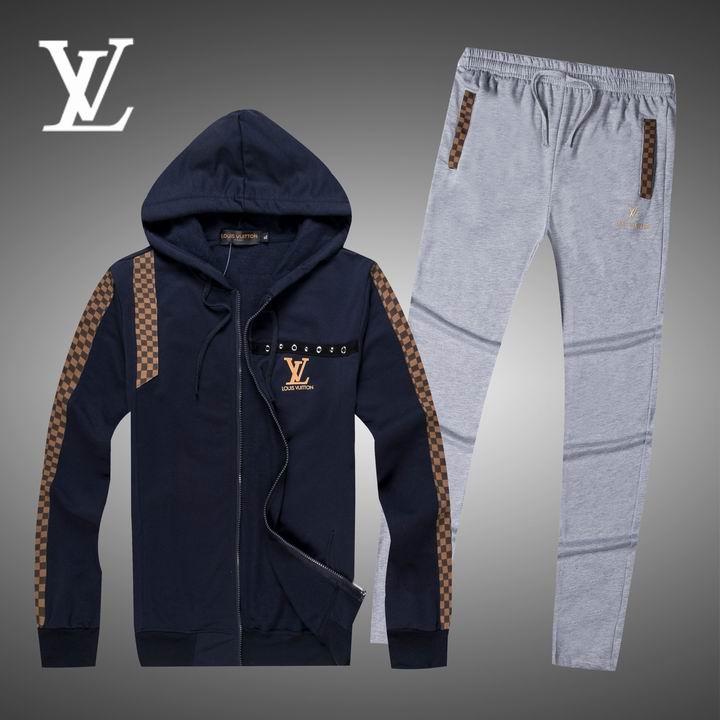 Wholesale Replica Louis Vuitton Long Sleeve Tracksuits for Men-023