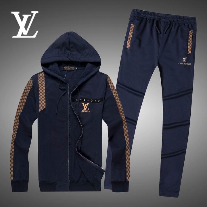 Wholesale Replica Louis Vuitton Long Sleeve Tracksuits for Men-024
