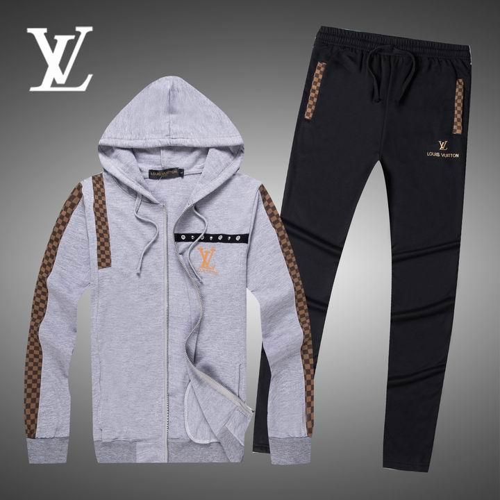 Wholesale Replica Louis Vuitton Long Sleeve Tracksuits for Men-025