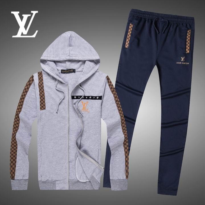 Wholesale Replica Louis Vuitton Long Sleeve Tracksuits for Men-026