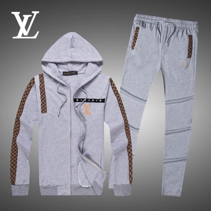 Wholesale Replica Louis Vuitton Long Sleeve Tracksuits for Men-027