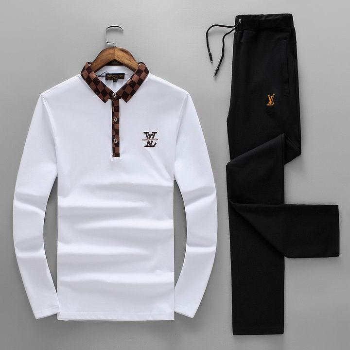 Wholesale Replica Louis Vuitton Long Sleeve Tracksuits for Men-029