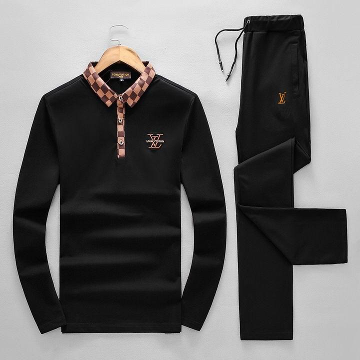 Wholesale Replica Louis Vuitton Long Sleeve Tracksuits for Men-030