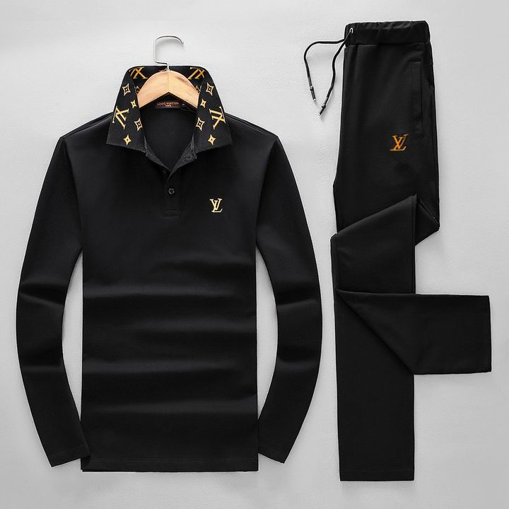 Wholesale Replica Louis Vuitton Long Sleeve Tracksuits for Men-031