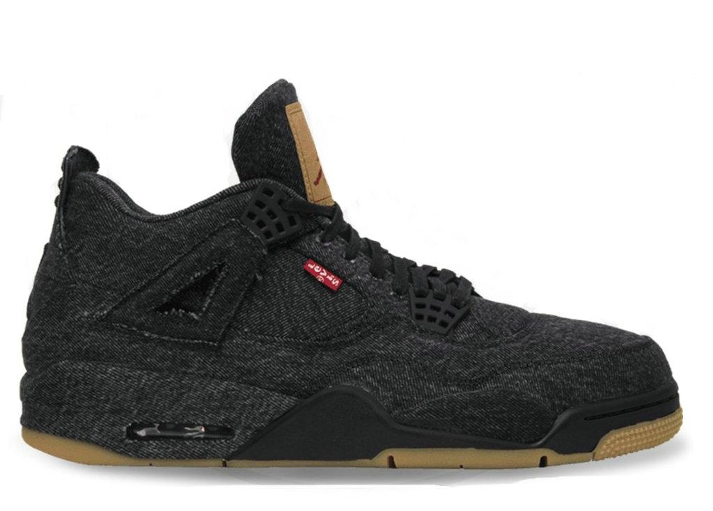 "Levis x Air Jordan 4 ""Black Denim""AO2571-001"