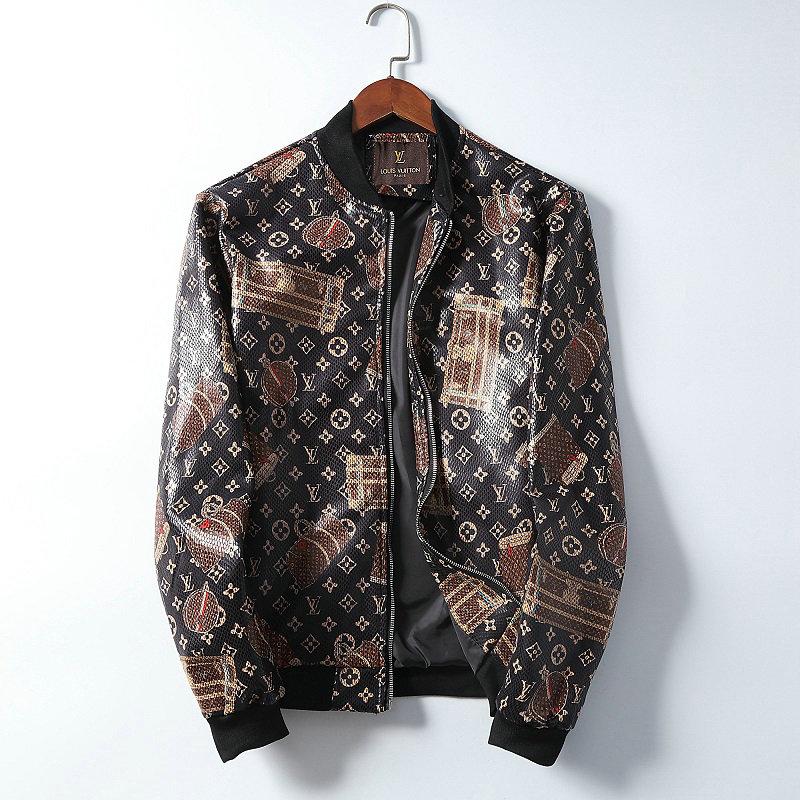 Wholesale Cheap Lv Designer Leather Coats for Men