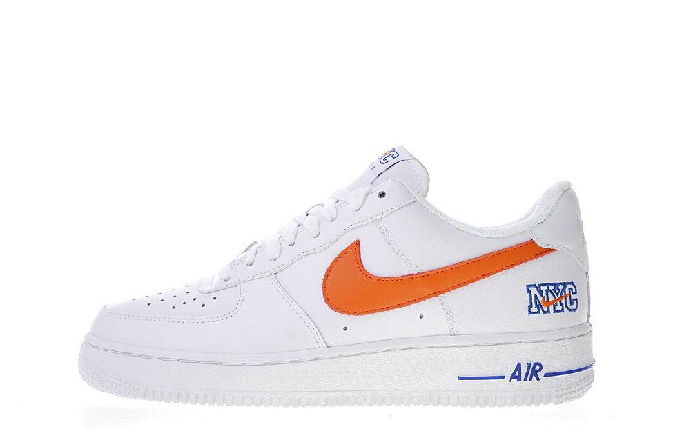 "Nike Air Force 1 Low ""NYC"" White/Orange-Blue 722241-844"