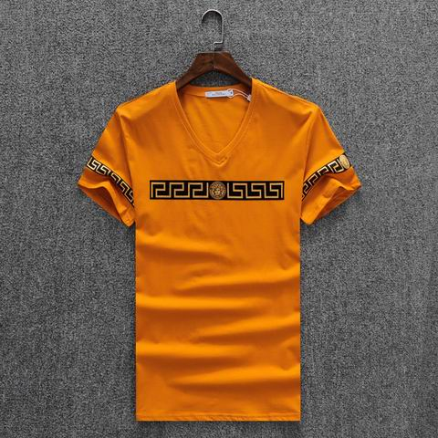 Wholesale Versace Short Sleeve V Neck T Shirts For Sale-033