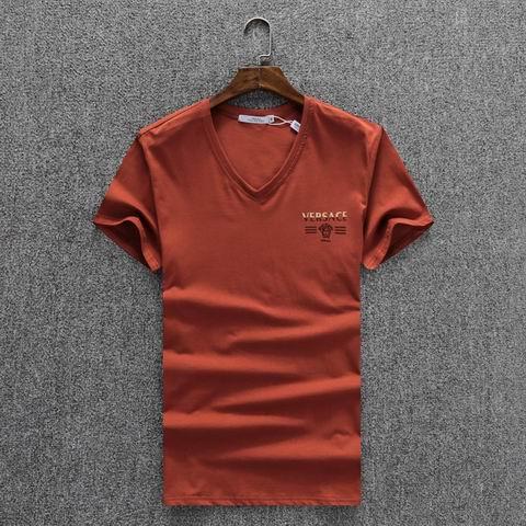 Wholesale Versace Short Sleeve V Neck T Shirts For Sale-036