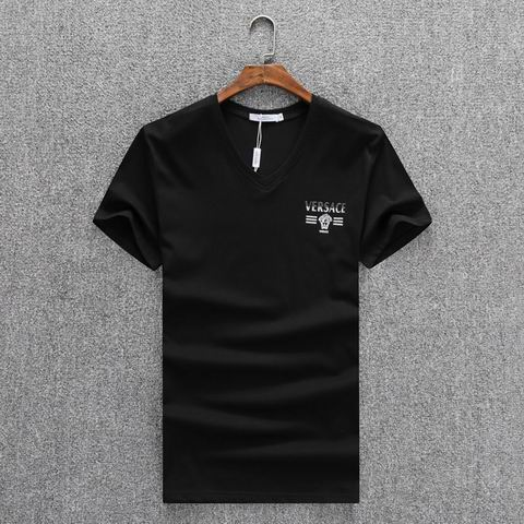 Wholesale Versace Short Sleeve V Neck T Shirts For Sale-037