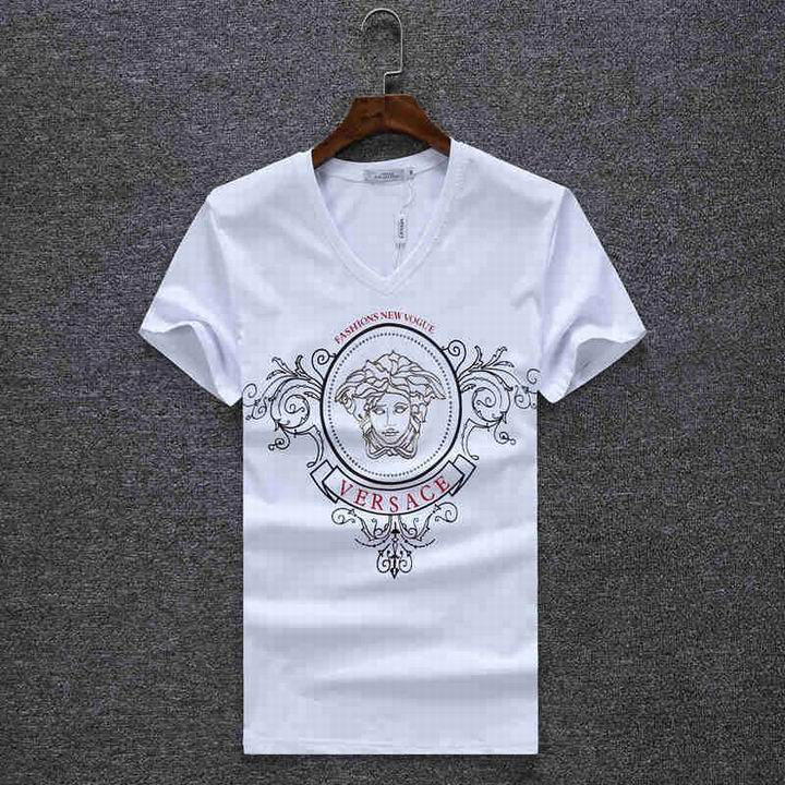 Wholesale Versace Short V Neck T Shirt for Men-029