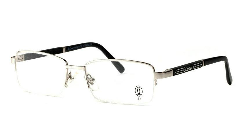 Wholesale Cheap Replica Cartier Metal Memory Plastic Glasses Frames For Sale-031