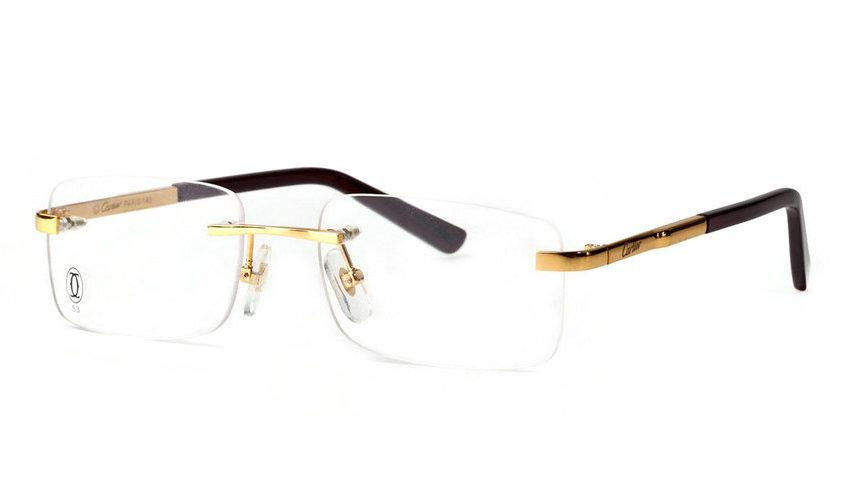 Wholesale Cheap Replica Cartier Metal Memory Plastic Glasses Frames For Sale-041