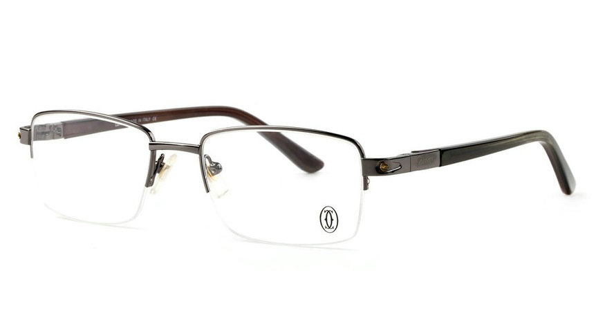Wholesale Cheap Replica Cartier Metal Memory Plastic Glasses Frames For Sale-044