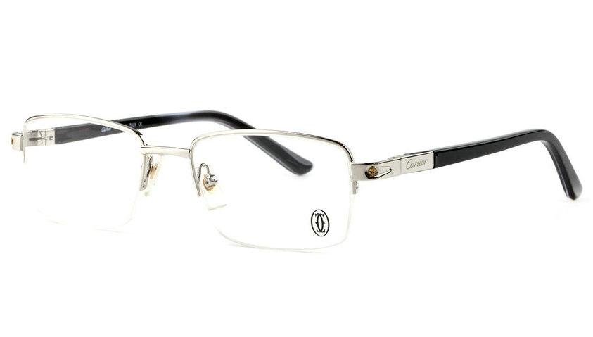 Wholesale Cheap Replica Cartier Metal Memory Plastic Glasses Frames For Sale-045