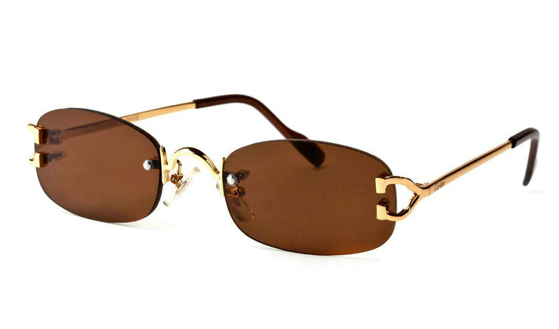 Wholesale Cheap Cartier Replica Rimless Eyeglass for Sale-014