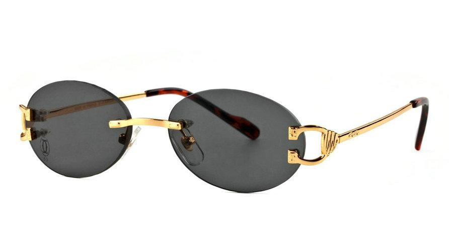 Wholesale Cheap Cartier Replica Rimless Sunglasses Frames for Sale-031