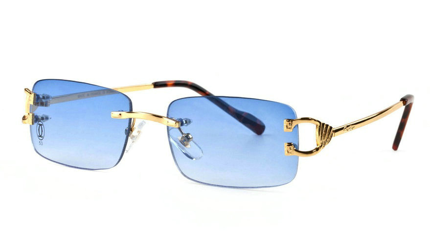 Wholesale Cartier Metal Rimless Glasses Replica Frames for Sale-038