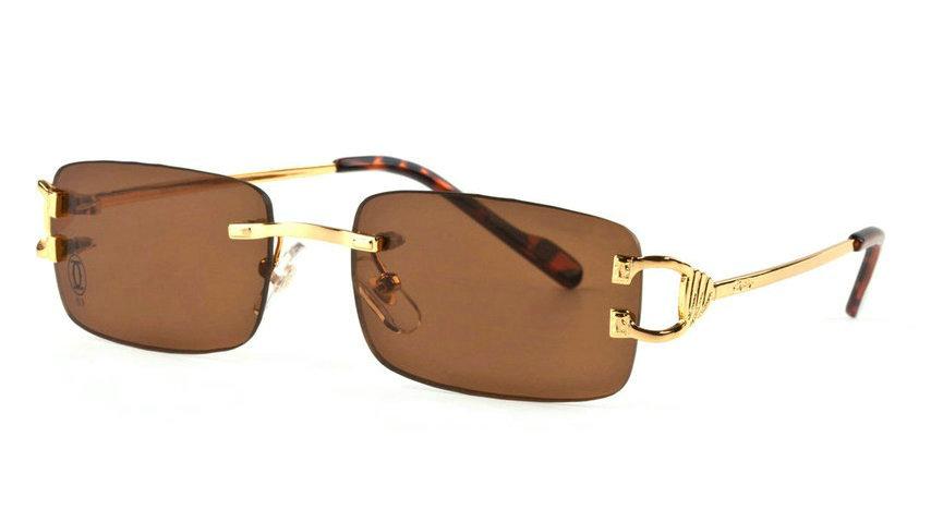 Wholesale Cartier Metal Rimless Glasses Replica Frames for Sale-039