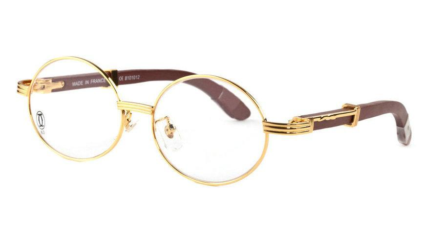 Wholesale Cheap Replica Cartier Wood Eyeglass Frames for Sale-202